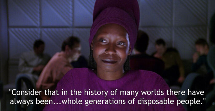 "Guinan, ""The Measure of a Man"" (13 February 1989) by Melinda M. Snodgrass"